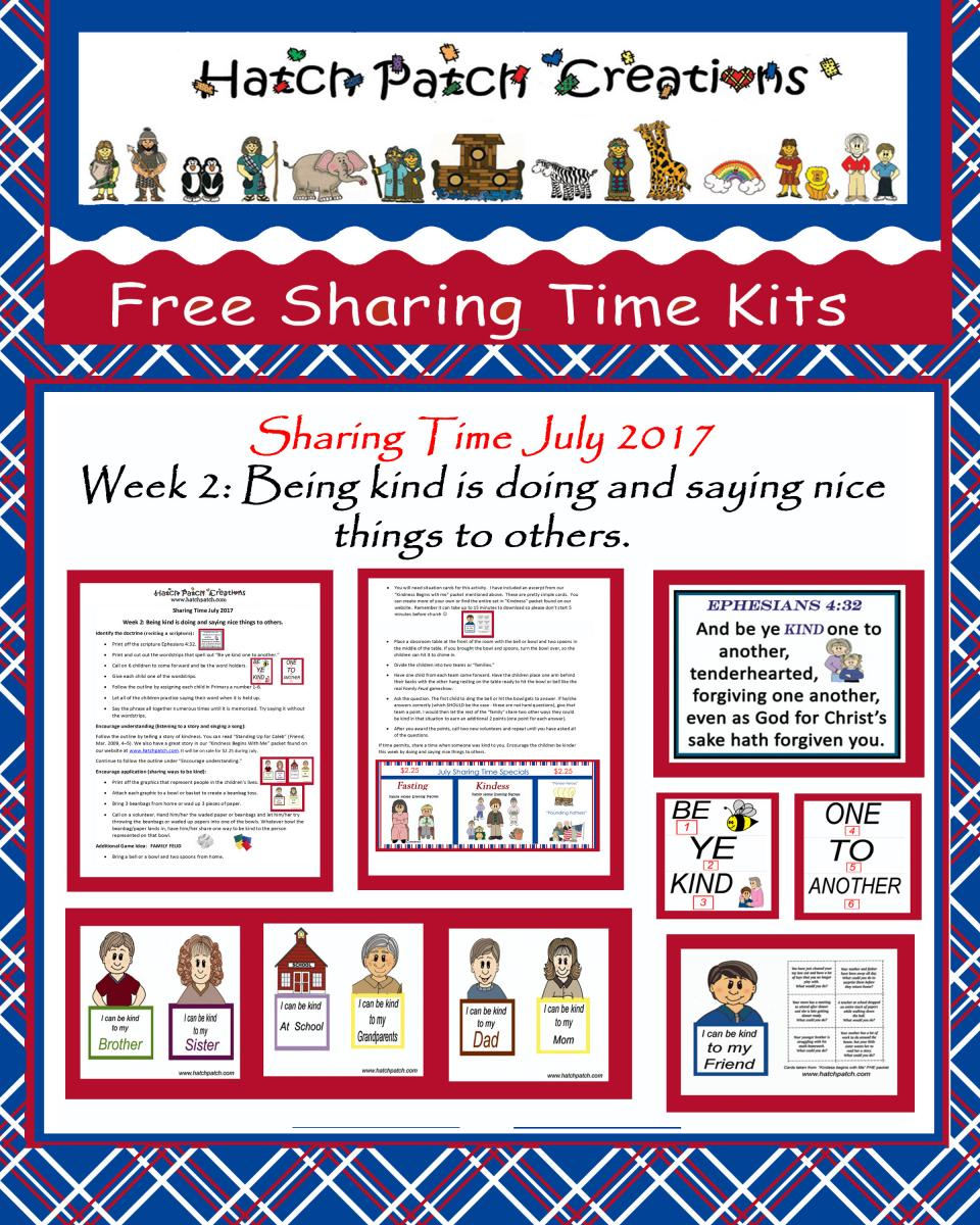 Free Stuff | Family Home Evening made easy!|Hatch Patch ...